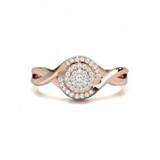 Or Rose Illusion Bague Diamant