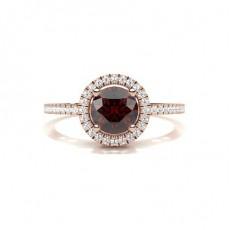 Rose Gold Ruby Diamond Rings