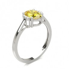 Yellow Diamond Gallery View Engagement Ring