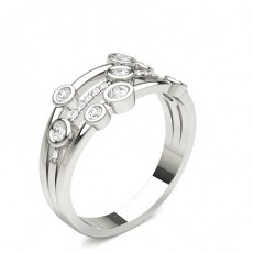 Round Platinum Statement Diamond Rings