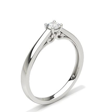 Runder diamant verlobungsring in einer 4 Krappenfassung
