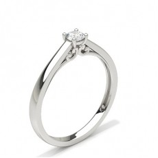 4 Prong Setting Round Diamond Engagement Ring
