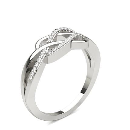 Runder Diamant Fashion Ring in einer Krappenfassung