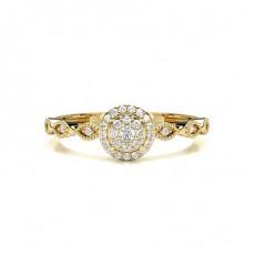 Gelbgold Zierliche Ringe