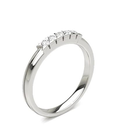5 Diamanten Ring in einer Illusionfassung