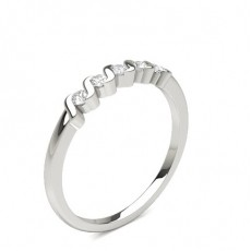 Silver 5 Stone Diamond Rings