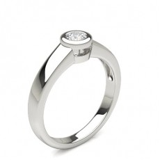 Silver Classic Solitaire Engagement Rings