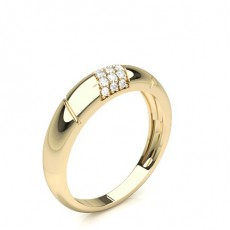 Wedding For Her: Diamond Bands Yellow Gold