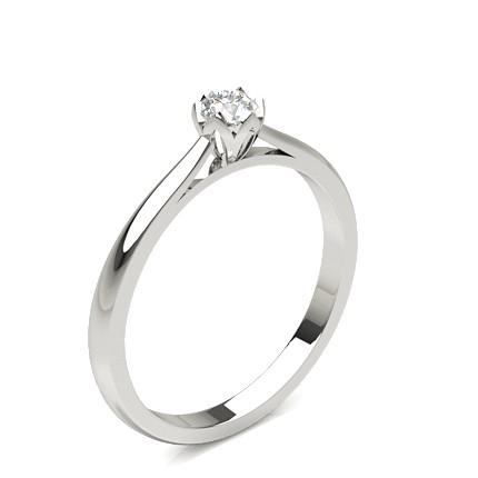 Bague de fiançailles diamant rond serti 6 griffes