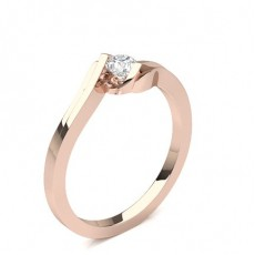 Rose Gold Classic Solitaire Diamond Engagement Rings