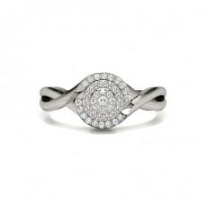 Silver Promise Diamond Rings