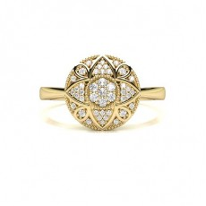 Yellow Gold Diamond Cluster Rings
