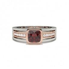 Rose Gold Ruby Diamond Engagement Rings