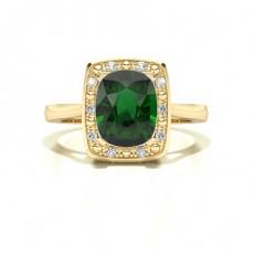 Oval Yellow Gold Diamond Rings