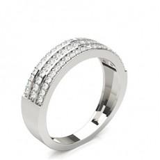 Silver Diamond Half Eternity Rings