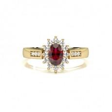 Gelbgold Rubin Diamantringe