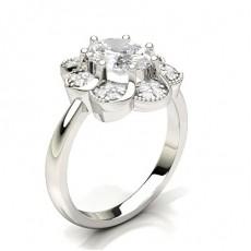 Oval Illusion Bague Diamant