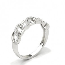 Round Silver Diamond Eternity Rings