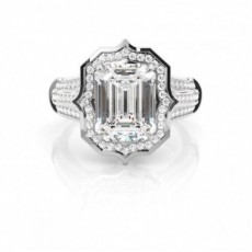 Emerald White Gold Ethereal Collection