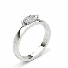 Marquise Or Blanc Bague solitaire diamant