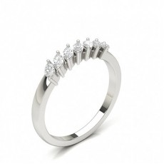 Marquise White Gold 7 Stone Diamond Rings