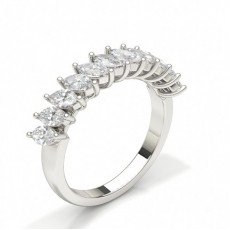 Marquise Diamond Half Eternity Rings