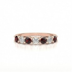 Rose Gold Ruby Rings