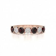 Rotgold Rubin Diamantringe
