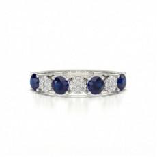 Halbe Ewigkeit 4 Prong Einstellung Blue Sapphire Ring