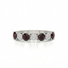 Silver Gemstone Diamond Rings