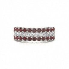 4 Prong Ruby Half Eternity Ring