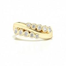 Or Jaune Bagues en diamant pour tous les jours