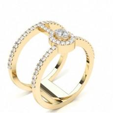 Oval Gelbgold Moderne Diamantringe
