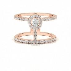 Or Rose Fantaisie Bague Diamant