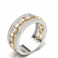 Round White Gold Diamond Half Eternity Rings