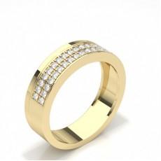Gelbgold Trauringe mit Diamant