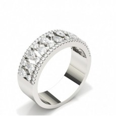 Pear Diamond Half Eternity Rings