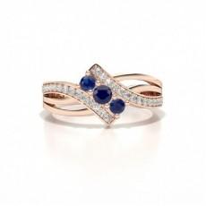 Rose Gold Gemstone Diamond Engagement Rings