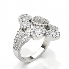 Prong Setting Fashion Round Diamond Ring