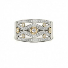 White Gold Statement Diamond Rings