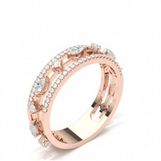 Mixed Shapes Rose Gold Diamond Eternity Rings