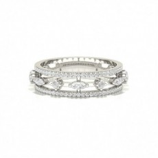 Silver Anniversary Diamond Rings