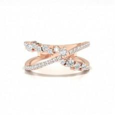 Rose Gold Statement Diamond Rings