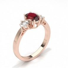 Oval Rose Gold Engagement Rings