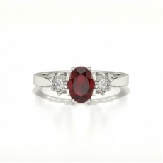 Oval Trilogy Ruby Ring
