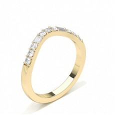 Baguette Yellow Gold Diamond Rings