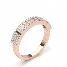 Baguette Rose Gold Diamond Rings