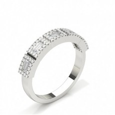 Baguette Platinum Diamond Eternity Rings