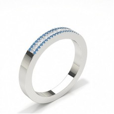 Princess Silver Diamond Rings