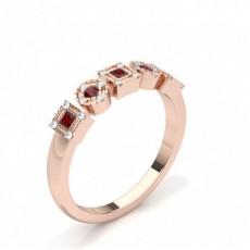 Princess Rose Gold Diamond Rings